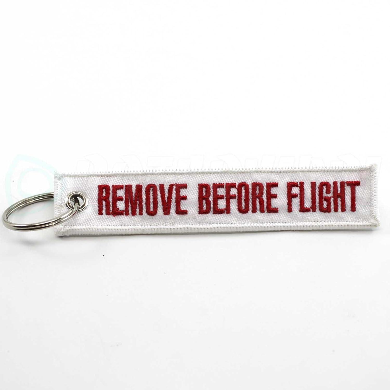 White//Red Rotary13B1 Remove Before Flight Keychain