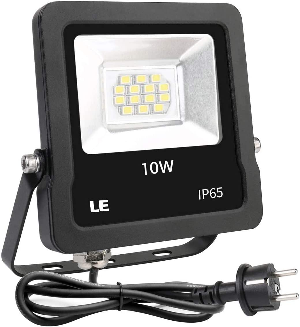 Lighting EVER Foco LED Proyector Exteriores, 10W 800lm Blanco Frío ...