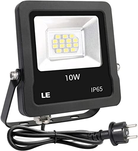 Lighting EVER Foco LED Proyector Exteriores, 10W 800lm Blanco Frío, Resistente al Agua IP65, Luces LED para Jardín Terraza Fachada etc: Amazon.es: Iluminación