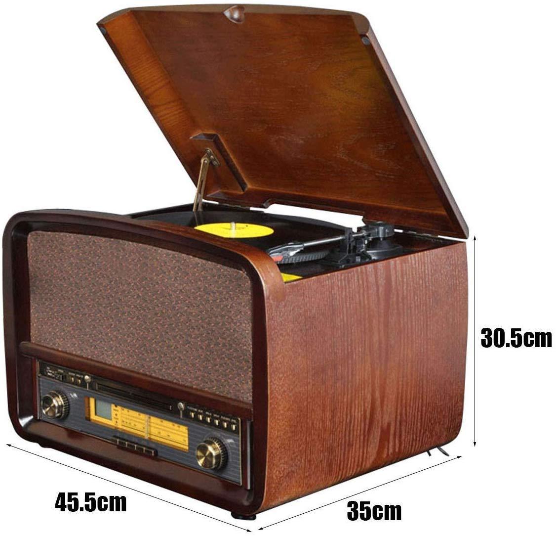 SMDFDN Tocadiscos, disco de vinilo del jugador, radio retro ...