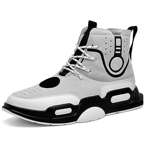 Zapatillas De Deporte De Invierno para Hombre OtoñO Botines para Hombre Chicos JóVenes High Top Flats Suede Casual Sports Shoes: Amazon.es: Zapatos y ...