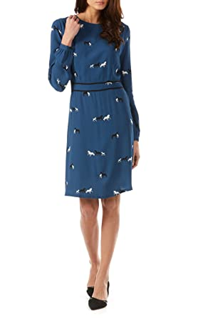 Small Sugarhill Manches Boutique Robe Femme Longues XqXpr