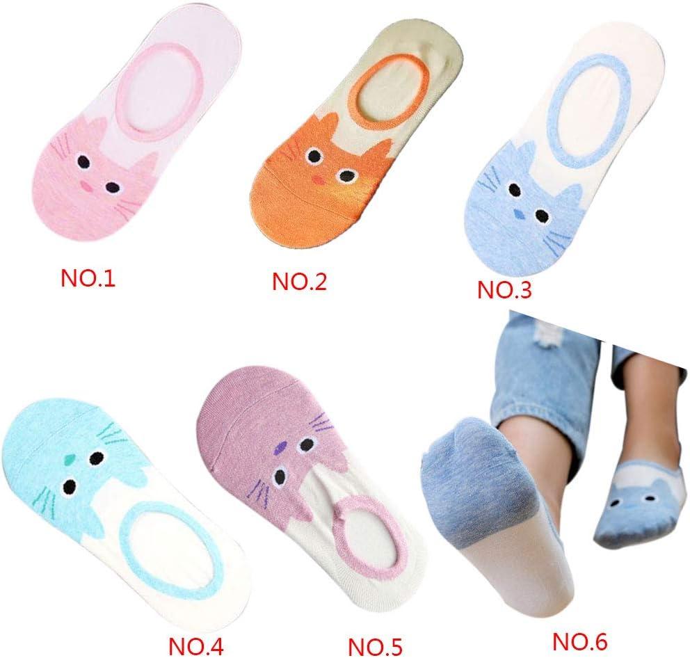 Minzhi Tman Uomini Cat Donne del Modello Caldo e Confortevole Cotton Socks Ragazzi delle Ragazze Svegli Caviglia Basso Hosier Invisibile