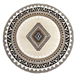Rugs 4 Less Collection Southwest Native American Indian Round Area Rug Design R4L 143 Beige / Berber (5'X5') Round