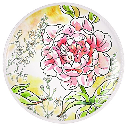 (Savannah Collection, Pink Peony Accent Plate 2)