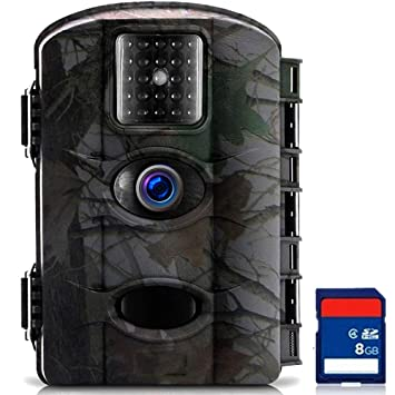 TRAIL WATCHER Cámara de Caza 16MP 1080P HD Trail Cámara Impermeable IP65 con Infrarrojos PIR Sensor