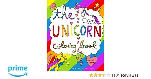 Amazon The Unicorn Coloring Book 9781364315597 Jessie Oleson Moore Books