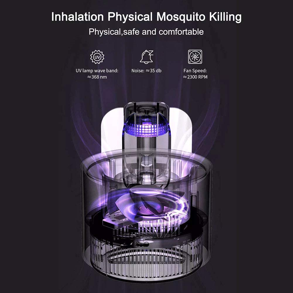 L/ámpara el/éctrica para Matar Mosquitos y Mosquitos l/ámpara para Matar Insectos al Aire Libre Blanco Blanco 12 * 12 * 15cm sin Humo Repelente de Mosquitos Bankaa Cactus sin Olor USB luz UV