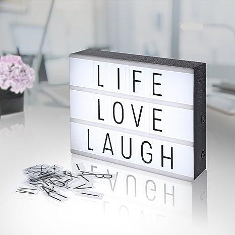 Agm Boite Lumineuse Lightbox Lettres Et Symboles Boite A Lumiere Led Format A4 A Piles Pour Decorer Anniversaire Mariage Famille Boutique