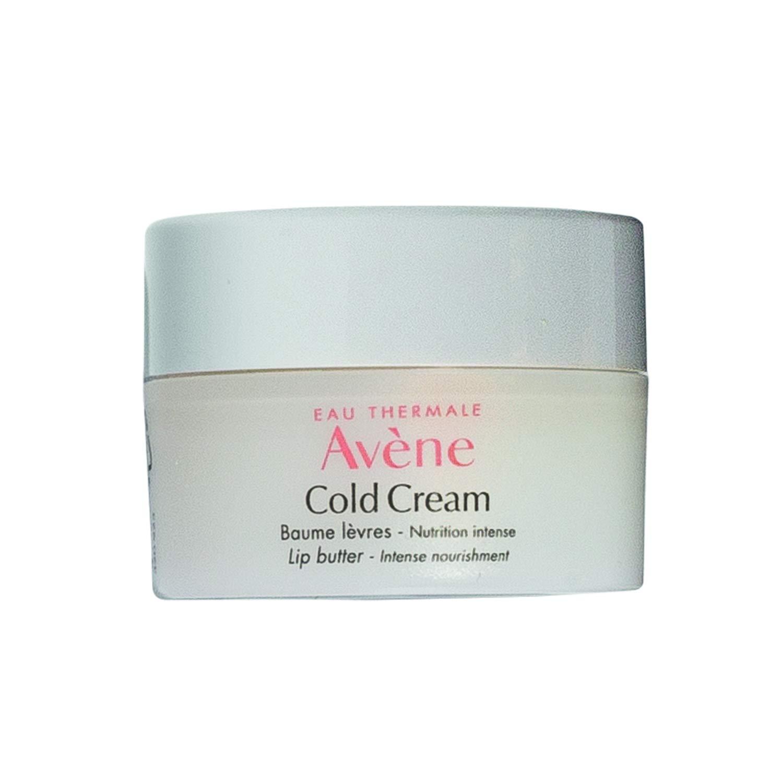 Eau Thermale Avene Cold Cream Lip Butter for Dry Damaged Lips, Jojoba Oil, Shea Butter, Jar, 0.2 oz.