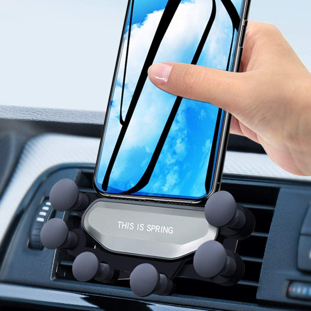 Air Vent Cell Phone Holder Jieaili Car Phone Mount Handsfree Phone Mount for Car Compatible iPhone 11 Pro Max XR Xs Max X