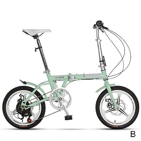 Bicicleta Plegable, 16 Pulgadas Ajustable Plegable Acero Al ...