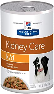 HILL'S PRESCRIPTION DIET k/d Kidney Care Chicken & Vegetable Stew Canned Dog Food, 12.5 oz, 12-Pack Wet Food