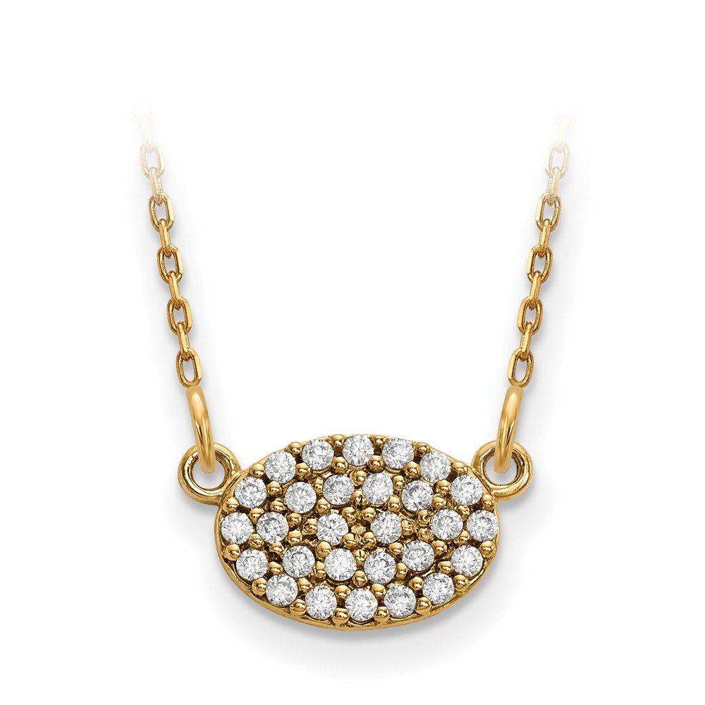 Top 10 Jewelry Gift 14ky Diamond Cluster Oval Necklace