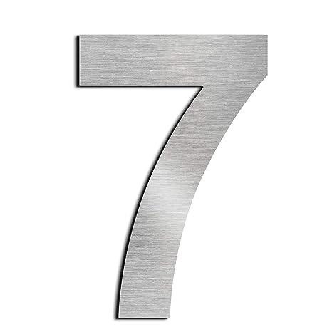 nanly Número de casa moderna-25.4Centímetros/10 pulgadas-Acero inoxidable, Apariencia flotante, Fácil de instalar y hecho de acero inoxidable sólido ...