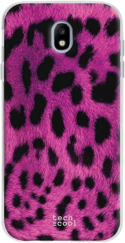 Gel Silicona Flexible, Dise/ño Exclusivo Textura Leopardo Marron Funnytech/® Funda Silicona para Samsung Galaxy J5 2017