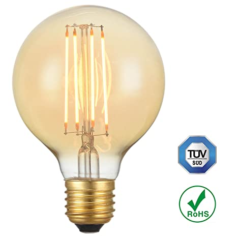 Bombilla LED forma de globo 80/95/125 de 4W con filamento