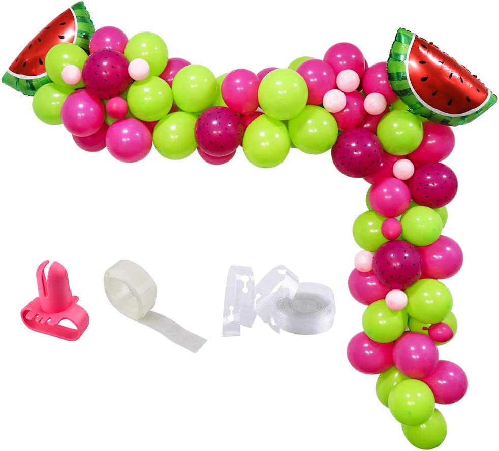 No Helium Needed Tropicool Red Giant Watermelon Foil Party Festival Balloon