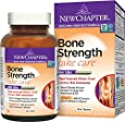 New Chapter Bone Strength Calcium Supplement, Clinical Strength Plant Calcium with Vitamin D3 + Vitamin K2 + Magnesium - 60 ct Slim Tabs