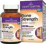Organic Calcium Supplement, New Chapter Bone Strength, 90 ct Slim Tabs