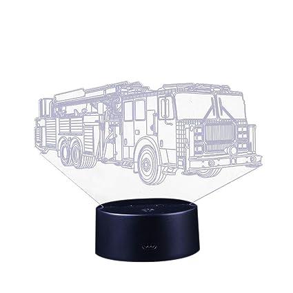 TianranRT - Lámpara LED 3D con ilusión óptica para escritorio y noche, Negro, A
