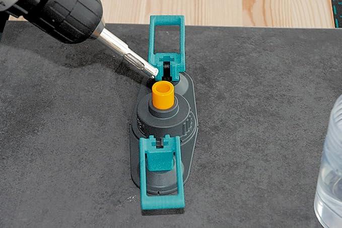 Wolfcraft 5918000 5918000-1 Broca de Diamante Ceramic para porcel/ánico con v/ástago Profundidad de Corte 30 mm diam 10mm 10 mm