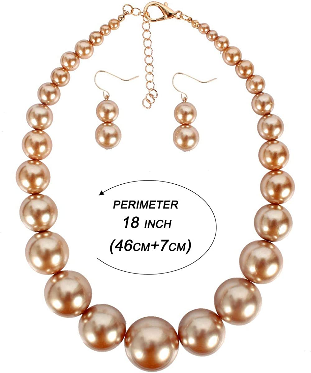 On Sale Faux Pearl  18 inch  Choker Necklace with Round Rhinestone with Faux Pearl Bead Pendant Costume Jewelry Fashion Accessory