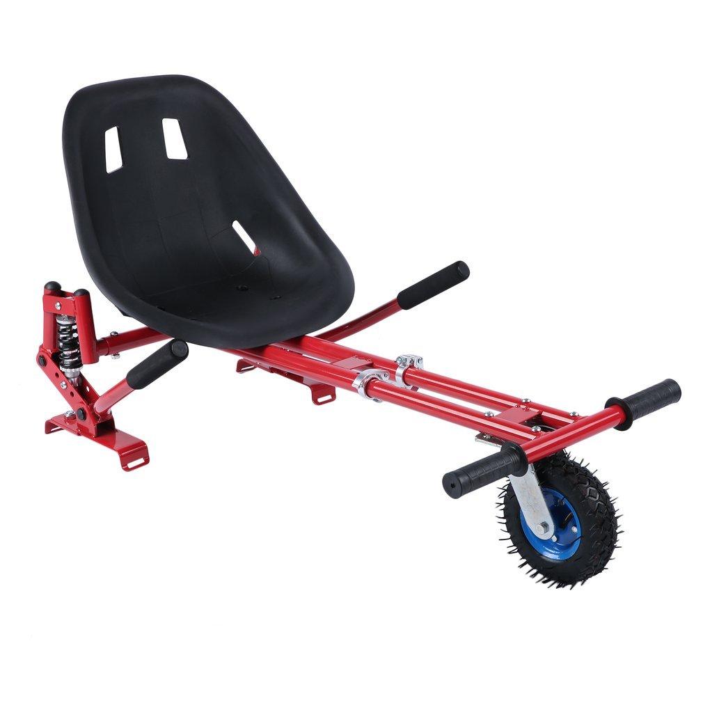 Nexttechnology Hover Kart, Black Adjustable Hover Seat Hoverkart for Self Balance Scooter Just Like Go-Kart, Hover Board Not Included (Red)