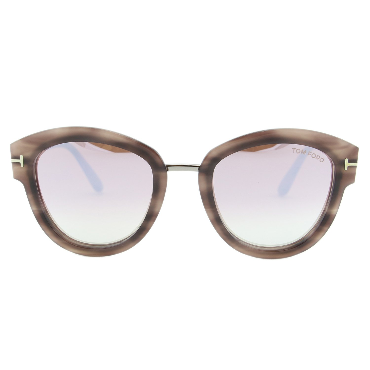 da2d2d6d7e5 Tom Ford MIA-02 FT-574 55Z Women Pink Havana Rounded Cat-Eye Mirrored  Sunglasses at Amazon Men s Clothing store