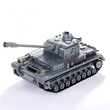1193pcs Large Panzer IV F2 The Tiger Tank Building Blocks Kit Military Army  Toy Tank Models Compatible