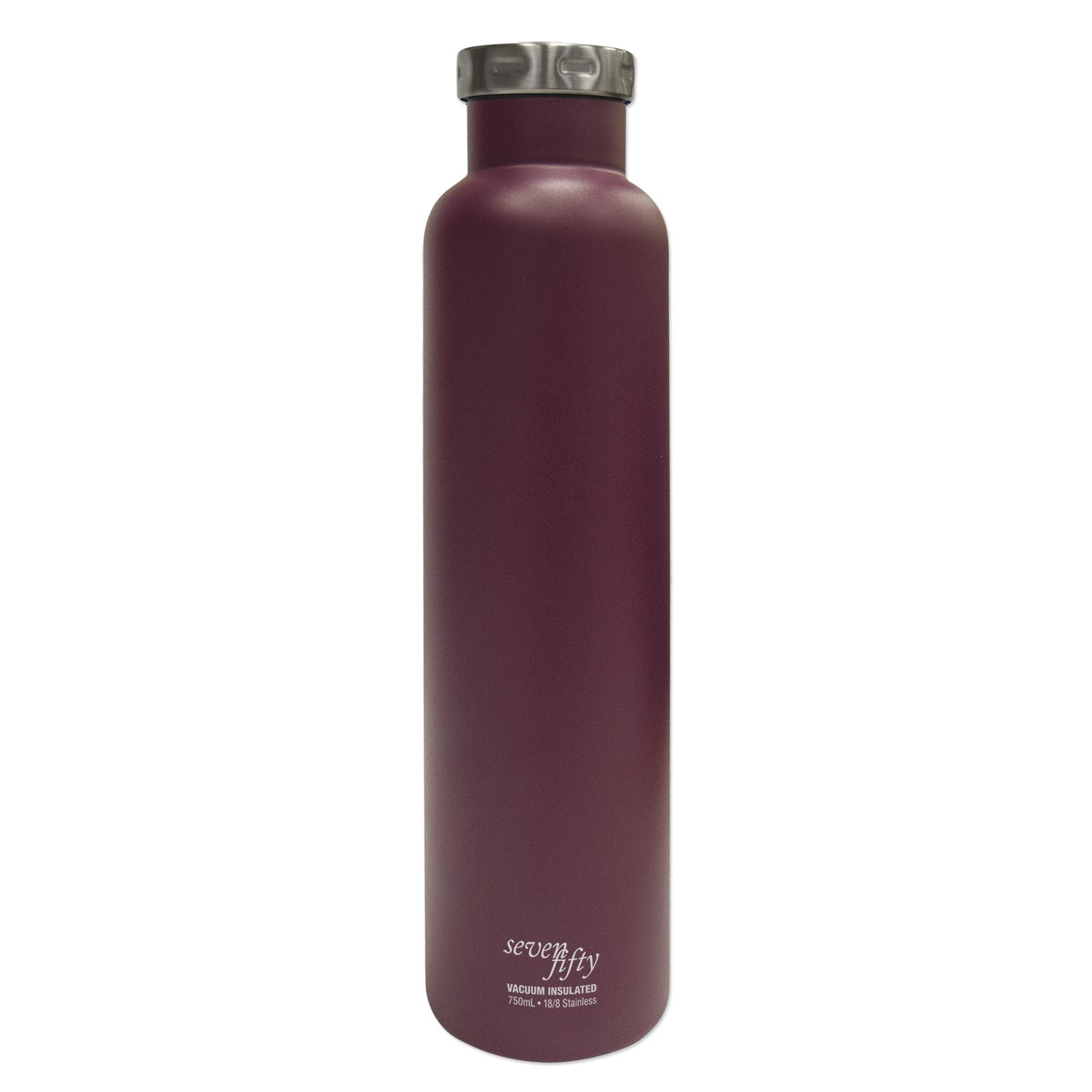 Seven Fifty Burgundy Vacuum-Insulated Stainless Steel Wine Growler - 750 mL Capacity