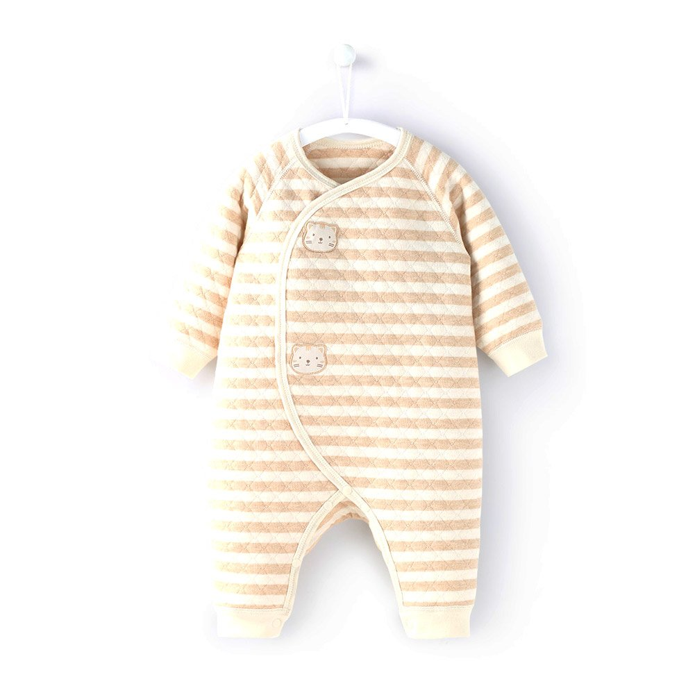 COBROO 100/% Cotton Unisex Baby Romper 0-3 Months Cute Cat Baby Footless Sleeper Jumpsuit for Sleep and Play Green