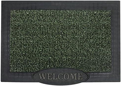 GrassWorx Clean Machine Big Welcome Doormat, 24 x 36 , Evergreen 10372051