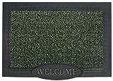 GrassWorx Clean Machine Big Welcome Doormat, 24'' x 36'', Evergreen (10372051)
