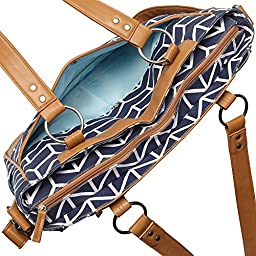 Kailo Chic Laptop and Camera Tote (Navy Arrows)