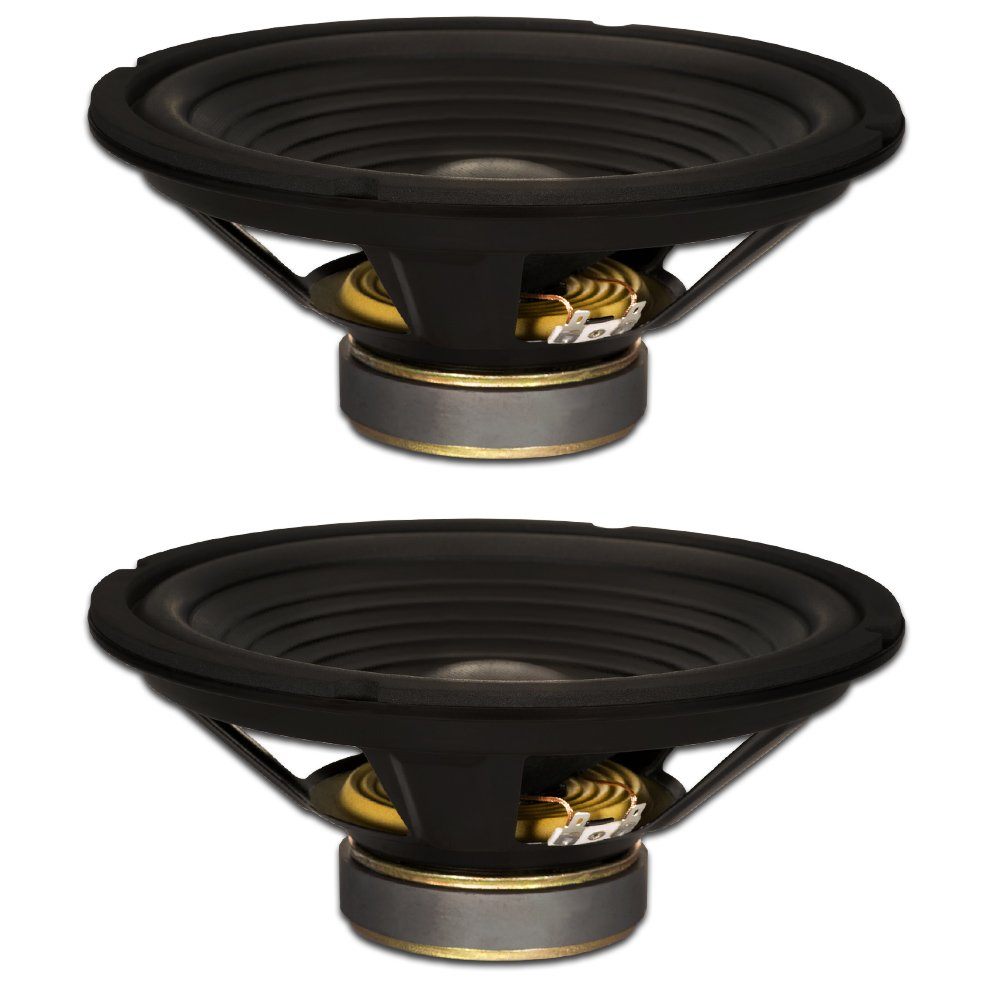 Goldwood Sound, Inc. Stage Subwoofer, OEM 10 Woofers 220 Watts Each 4ohm Replacement 2 Speaker Set (GW-210/4-2)