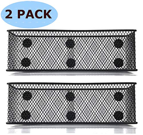 Magnetic Locker Basket Magnetic Baskets for Refrigerator Magnetic Pen/Pencil Holder Locker Accessories - 7.8