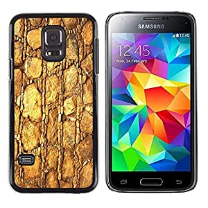 Be Good Phone Accessory // Dura Cáscara cubierta Protectora Caso Carcasa Funda de Protección para Samsung Galaxy S5 Mini, SM-G800, NOT S5 REGULAR! // Gold Pattern Texture Material R