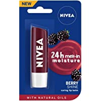 NIVEA Lip Balm, Blackberry Shine, 4.8g