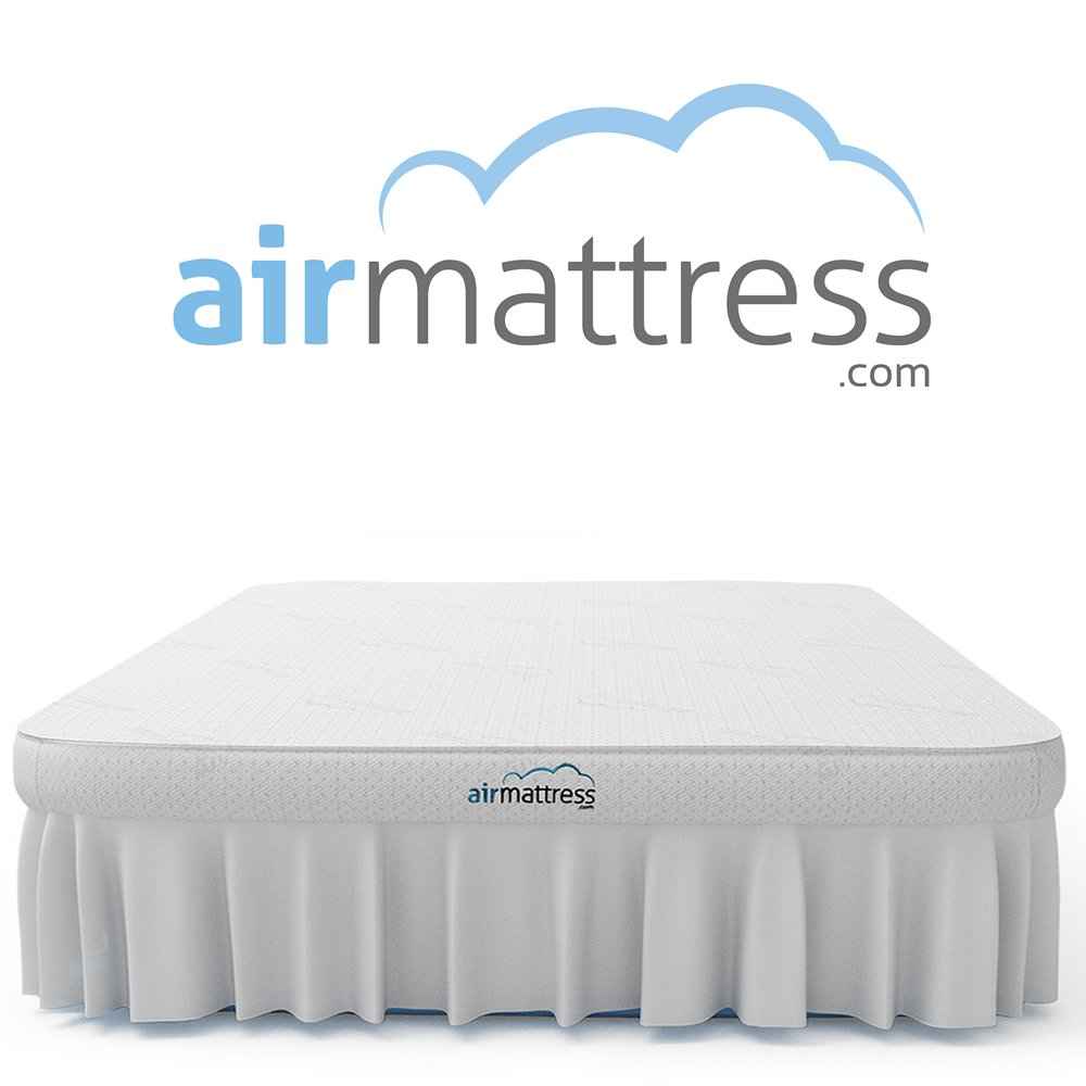 Air Mattress KING SIZE - Best Choice RAISED Inflatable Bed with Fitted Sheet and Bed Skirt - Built-in High Capacity Airbed Pump (King) by Fox Air Beds