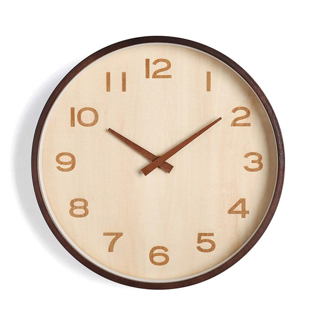 ZWD 教室サイレントウォールクロック、ベッドルームレストランフラワーショップバルコニーリビングルームベッドルームオフィスコーヒーショップ書店壁時計ソリッドウッド壁時計25.6-40.8CM 飾る (色 : A, サイズ さいず : 25.6 * 25.6CM) B07FRVNMM7 25.6*25.6CM|A A 25.6*25.6CM