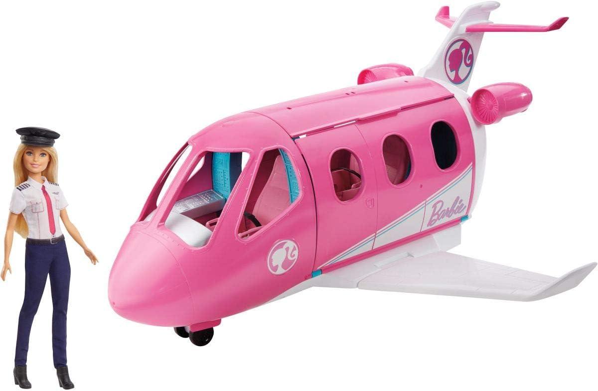 Barbie Avión de tus sueños, avión de juguete con muñeca y accesorios para muñecas (Mattel GBJ33)