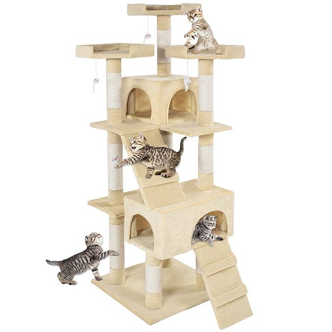 TecTake Rascador Árbol para gatos Sisal - disponible en diferentes colores - (Beige | No. 400928): Amazon.es: Productos para mascotas