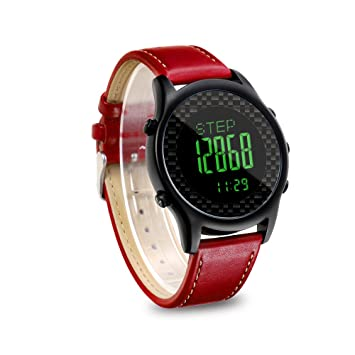 Lixada Spovan Digital Smart Watch con Banda de Cuero Genuino Reloj Brújula Podómetro Pacer Impermeable LED Retroiluminación: Amazon.es: Deportes y aire ...
