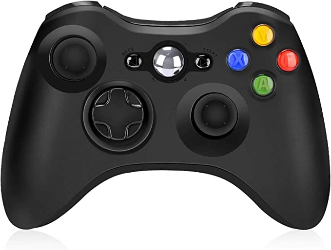 Amazon.com: Wireless Controller for Xbox 360, Wireless Controller Remote 2.4GHz Game Controller Gamepad Joystick for Xbox/Slim 360 PC Windows 7/8/10 (Black): Home Audio & Theater