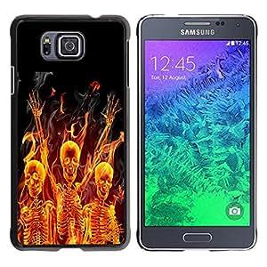 - Skull Devil Diablo Extraterrestrial - - Fashion Dream Catcher Design Hard Plastic Protective Case Cover FOR Samsung ALPHA G850 Retro Candy