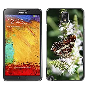 Etui Housse Coque de Protection Cover Rigide pour // M00134855 Insecto Mariposa Flor Naturaleza // Samsung Galaxy Note 3 III N9000 N9002 N9005