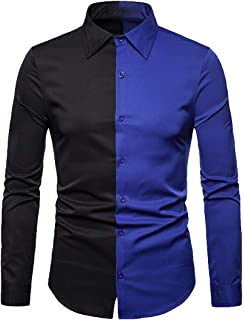 ARTFFEL Men Button Down Relaxed Fit Long Sleeve Printing Christmas Dress Shirts