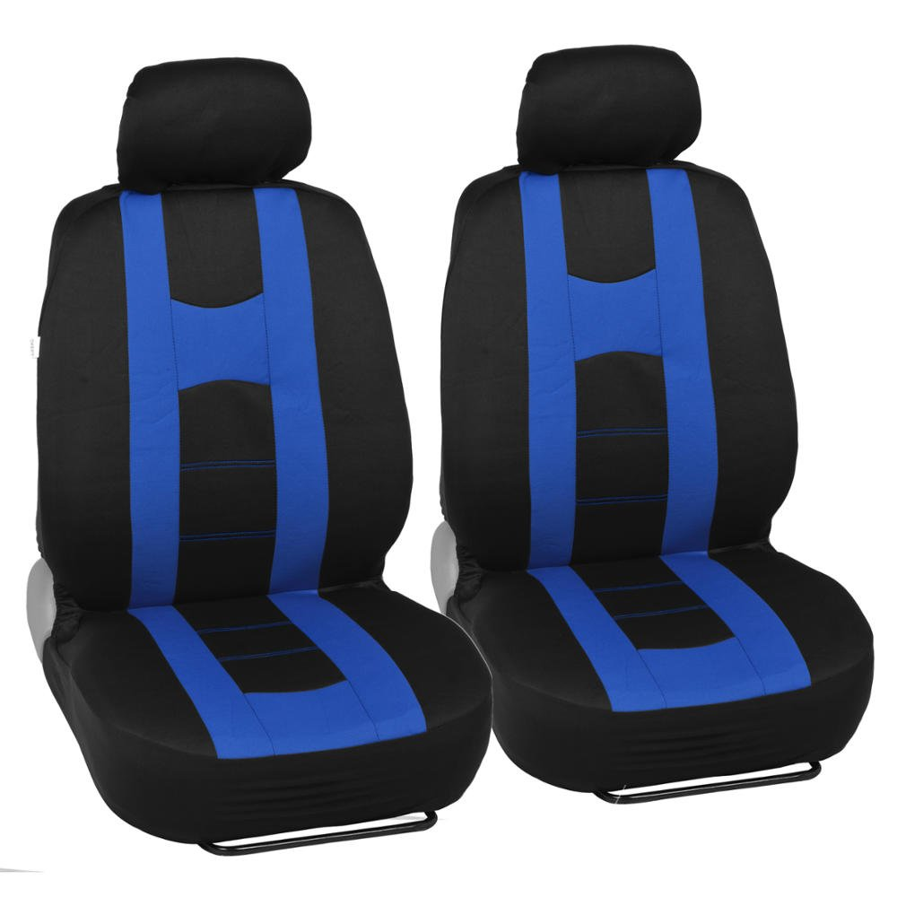 Front /& Rear Bench Covering Set BDK Rome Sport Auto Seat Covers for Car SUV Truck Van Universal Fit Black /& Gray Split Bench 11 Pieces
