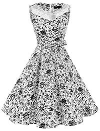 Dresstells® 50s Round Neck See Through Rockabilly Hepburn Party Swing Dress